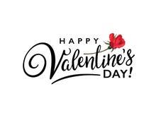 Счастливый плакат оформления дня валентинок Стоковые Фотографии RF