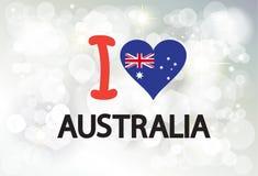 Счастливый плакат фейерверков приветствию дня Австралии Стоковая Фотография RF