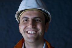 счастливый подземный работник стоковая фотография