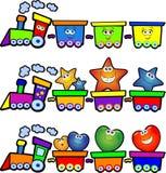счастливый поезд Стоковое Фото