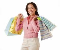 Счастливый покупатель стоковое изображение rf