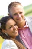 Счастливый портрет пар Стоковая Фотография RF