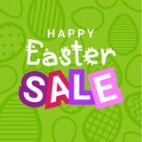 Счастливый праздник дизайна рогульки продажи пасхи уценивает знамя с декоративной предпосылкой яичек бесплатная иллюстрация