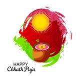 Счастливый праздник Chhath Puja бесплатная иллюстрация