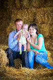 Счастливый представлять семьи Стоковое Фото