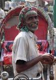 Счастливый пулер Rikshaw стоковые фото
