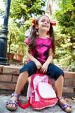 Счастливый ребенок назад к школе Стоковая Фотография