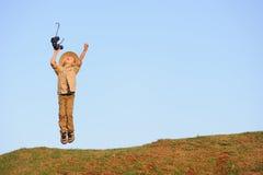 Счастливый ребенок сафари стоковое изображение rf