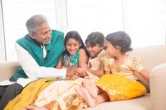 Счастливый скреплять отца и дочерей Стоковая Фотография RF