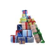 Счастливый снеговик с подарками Стоковые Фото