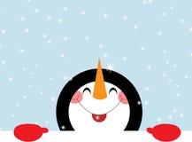 счастливый снеговик Стоковые Фотографии RF