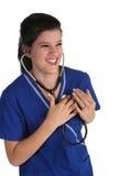 счастливый сотрудник военно-медицинской службы Стоковые Изображения RF