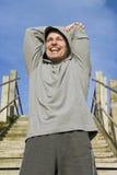 счастливый спортсмен Стоковые Изображения