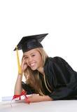 Счастливый студент-выпускник женщины Стоковое Фото