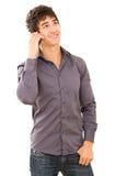 Счастливый ся молодой человек Стоковые Изображения RF