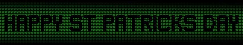 Счастливый текст дня St Patricks на иллюстрации предпосылки shamrock Стоковое Изображение RF