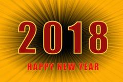Счастливый текст Нового Года 2018 стоковое фото