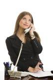 Счастливый телефонный разговор Стоковые Изображения RF