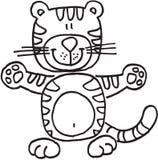 счастливый тигр иллюстрация штока