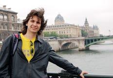 счастливый турист Стоковая Фотография