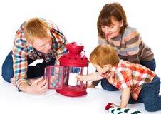 Счастливый усмехаться портрета семьи Стоковое фото RF