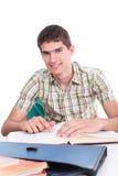 счастливый учя студент yong Стоковая Фотография RF
