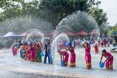 Счастливый фестиваль Songkran стоковое изображение