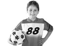 счастливый футбол малыша стоковое изображение rf