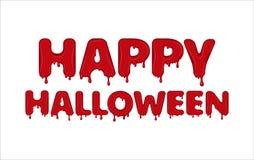 Счастливый хеллоуин сделанный крови иллюстрация вектора