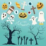 Счастливый хеллоуин установил 2 Стоковая Фотография