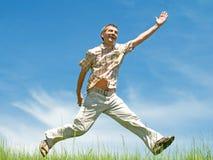 счастливый ход человека стоковое изображение