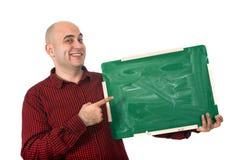 Счастливый человек с доской Стоковое фото RF