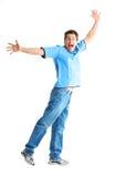 счастливый человек Стоковая Фотография