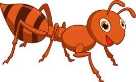 Счастливый шарж муравья иллюстрация вектора