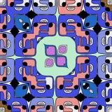 счастливый шарж стороны абстрактная иллюстрация иллюстрация штока