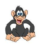 Счастливый шимпанзе Иллюстрация штока