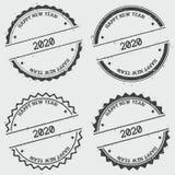 Счастливый штемпель insignia Нового Года 2020 дальше бесплатная иллюстрация
