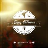 Счастливый ярлык хеллоуина иллюстрация штока