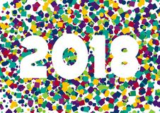 Счастливый Confetti 2018 Нового Года Стоковое Изображение RF