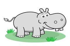 Счастливый hippopotamus иллюстрация штока