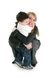 счастливый hug Стоковые Изображения