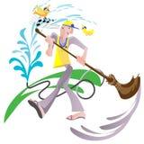 счастливый janitor иллюстрация штока