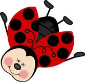 счастливый ladybug летая Стоковое Изображение RF