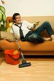 счастливый mop человека Стоковые Фото