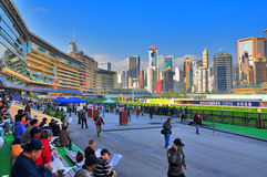 Счастливый racecourse долины, Гонконг Стоковая Фотография RF