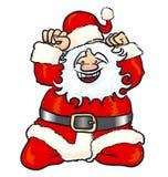 счастливый santa Стоковые Фото