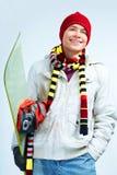 счастливый snowboarder Стоковая Фотография