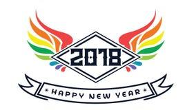 2018 счастливых Новых Годов Потеха 2018 также вектор иллюстрации притяжки corel знамена плакат Стоковая Фотография