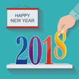 2018 счастливых Новых Годов Бесплатная Иллюстрация