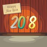 2018 счастливых Новых Годов Иллюстрация вектора